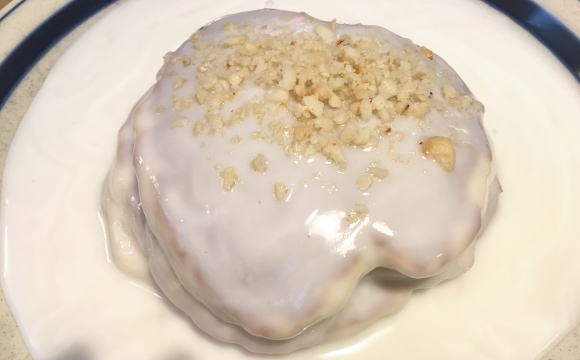 コナズ珈琲ふじみ野店 マカダミアココナッツソースパンケーキ