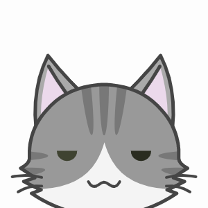 ぼーっとする猫の顔アイコン