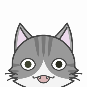 輝く顔の猫
