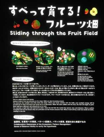 ららぽーと富士見 チームラボ すべって育てるフルーツ畑