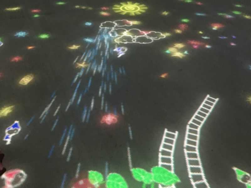 ららぽーと富士見 チームラボ光の遊園地 小人が集まるテーブル