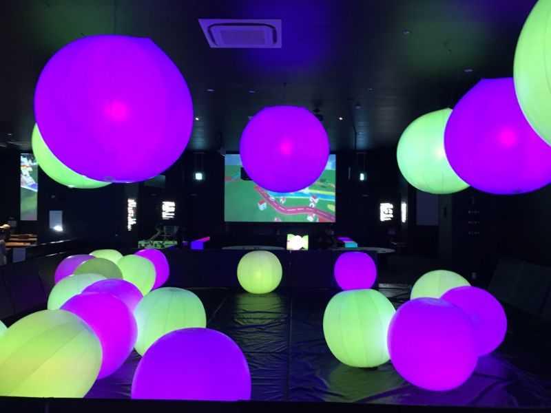 ららぽーと富士見のチームラボ「学ぶ!未来の遊園地」ボール
