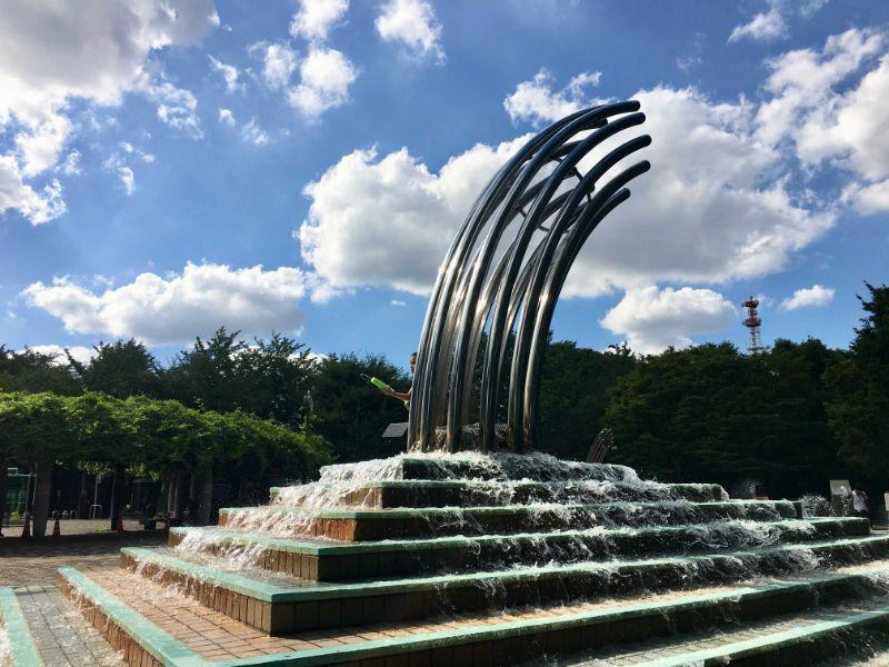 大泉中央公園の水遊び場 じゃぶじゃぶ池