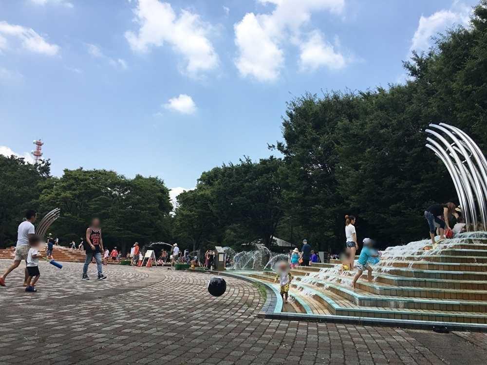 大泉中央公園のじゃぶじゃぶ池